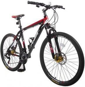 Merax Finiss 26 Aluminum 21 Speed Mountain Bike with Disc Brakes