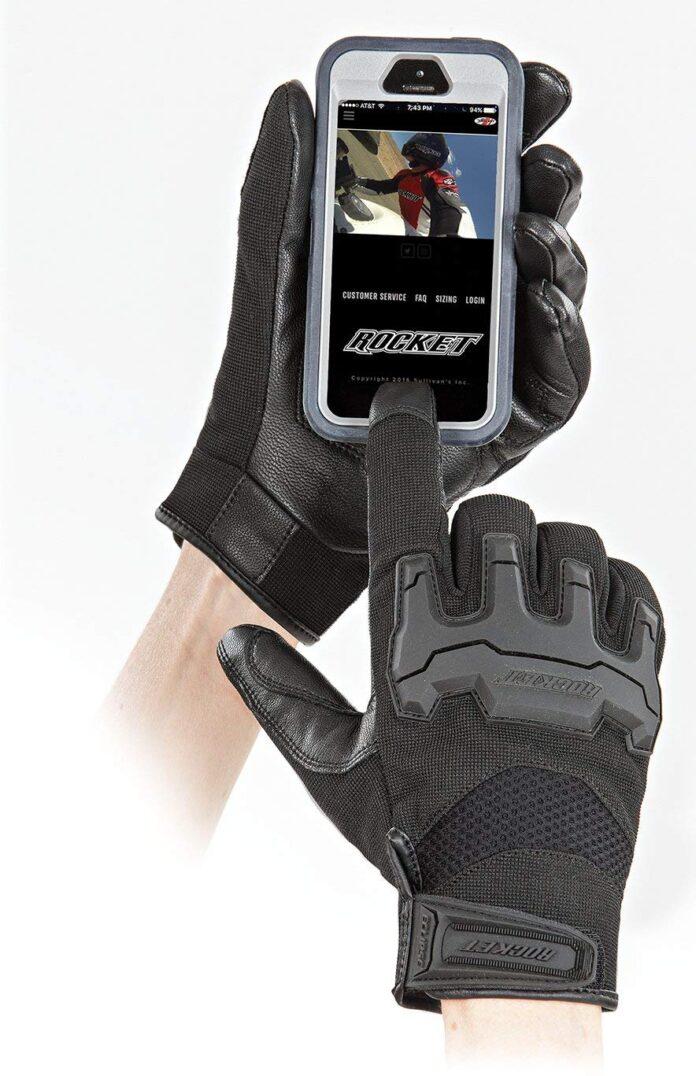 Black, Large Joe Rocket Mens Eclipse Gloves