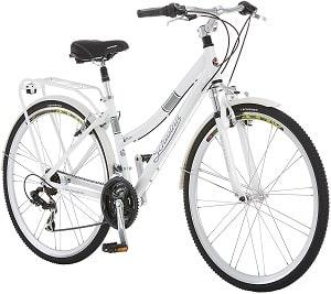 Schwinn Discover Hybrid Bike for Men and Women, 21-Speed, 28-inch Wheels