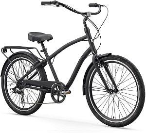 sixthreezero EVRYjourney Men's Single Speed Hybrid Cruiser Bicycle