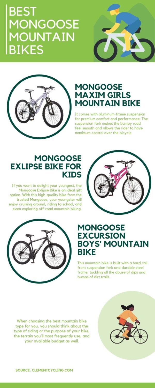 best mongoose bikes infographic